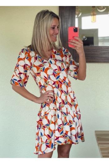 Vestido Naranjos Corto