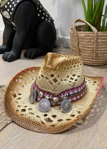 Sombrero Monedas Rosa