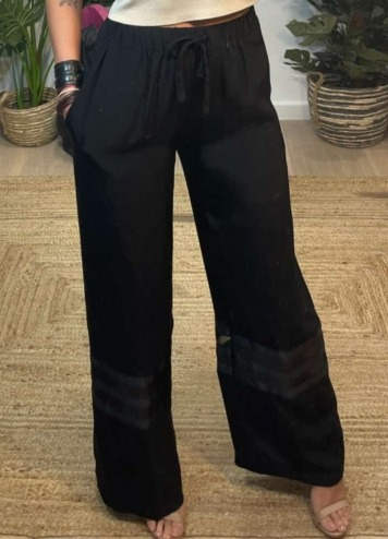 Pantalón Sheer Black