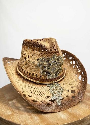 Sombrero detalles dorados