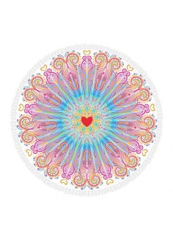 Toalla redonda Corazón