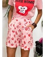 Shorts estampado de monos