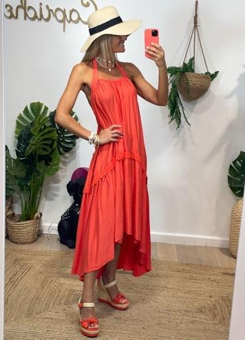 Vestido Nuria Naranja