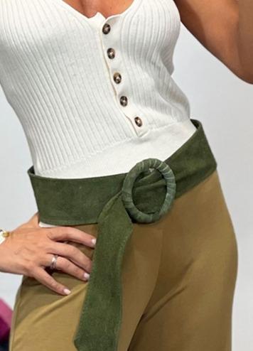 Cinturón Antelina Verde Militar
