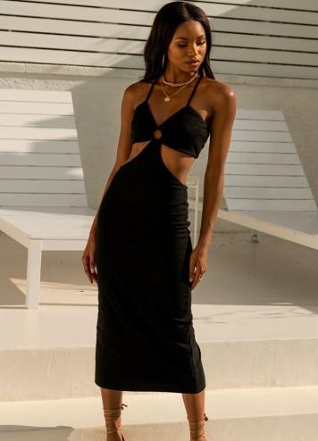 Vestido Hula Negro