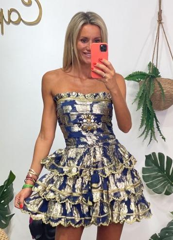 Vestido Gold Diamond Azul