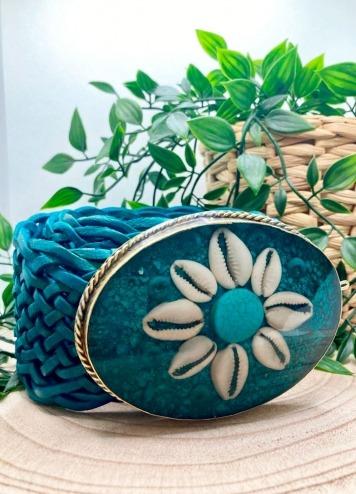 Cinturón Flor azul