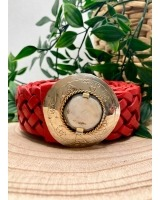 Cinturón Trenzado pequeño Rojo