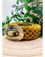 Cinturón Trenzado pequeño Amarillo