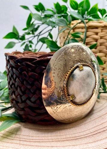 Cinturón Grande Circular Marrón