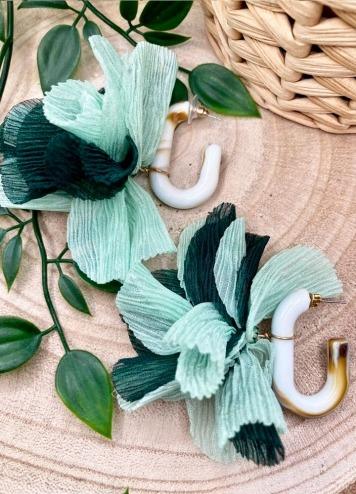 Pendientes Fiore Verde