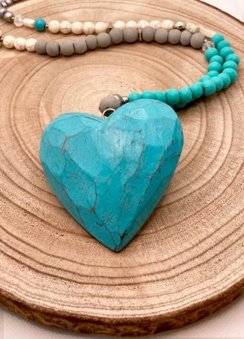 Collar Heart Azul